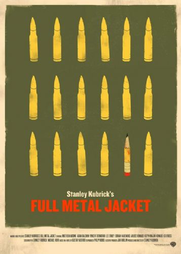 1980's Movie - FULL METAL JACKET - BULLETS ART canvas print - self adhesive poster - photo print